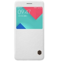 Кожаный чехол Nillkin Qin Leather Case White для Samsung A710F Galaxy A7 (2016)