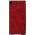 Кожаный чехол Nillkin Qin Leather Case Red для Sony Xperia Z4(#2)
