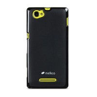 Силиконовый чехол Melkco Poly Jacket TPU Case Black для Sony Xperia M/C1905 Dual
