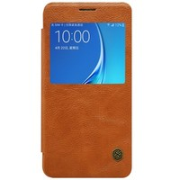 Кожаный чехол Nillkin Qin Leather Case Brown для Samsung J710F Galaxy J7 (2016)