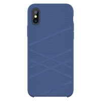 Силиконовая накладка Nillkin Flex Case Blue для Apple iPhone X/ iPhone XS