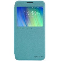Полиуретановый чехол Nillkin Sparkle Leather Case Blue для Samsung Galaxy E7